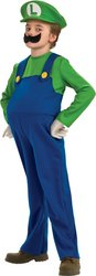 Super Mario Brothers - Boy's Costume: Deluxe Luigi- Medium