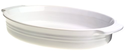 Le Creuset Stoneware 14-Inch Oval Baking Dish, White