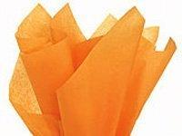 """Brand New Tangerine Light Orange Bulk Tissue Paper 15"""" x 20"""" - 100 Sheets"""