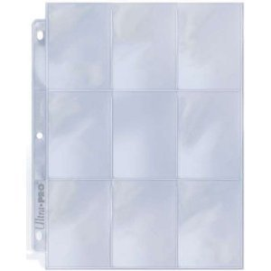25 Ultra Pro 9 Pocket Page Protectors Fits 3-Ring Binder for Baseball and Other Sports Cards!