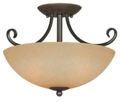 Hardware House 543769 Berkshire 14-1/2-Inch by 10-Inch Ceiling Light Fixture, Classic Bronze
