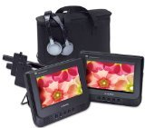 Audiovox D7121ESK Dual Screen Portable DVD Player