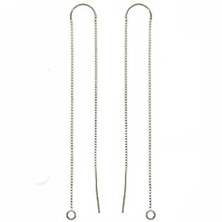 Sterling Silver Ear Threaders 6 In. W/ Bridge & Jump Ring (1 pair) sterling silver ear thread