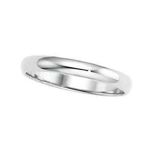 3mm Classic 14K White Gold Traditional Wedding Band for Men & Women (4.5)