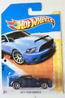 Hot Wheels 2011-3/244 New Models 3/50 BLUE '10 Ford Shelby GT-500 Super Snake 1:64 Scale - 1