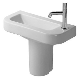 Duravit 418500008 Happy D. Handrinse Basin 19 5/8, Right Tap Hole, White