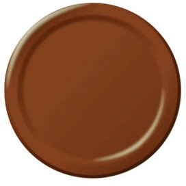 7in Chocolate Brown Round Plates 20pk