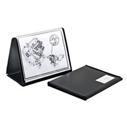 Office Depot ShowFile(TM) Easel Display Book, Horizontal Style, 8 1/2in. x 11in., Black, 52132