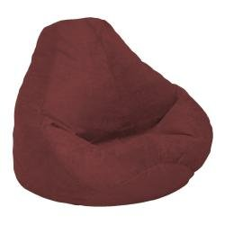 Soft Velvet Luxe Bean Bag Adult, Berry from American Furniture Alliance