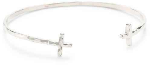 gorjana Silver Cross Over Cuff Bracelet