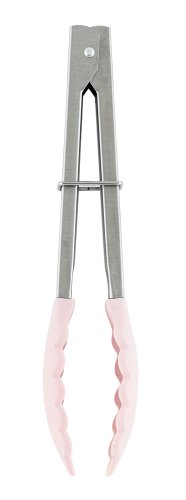 Cookfile Silicone Tongs, Pink (Japan Import)