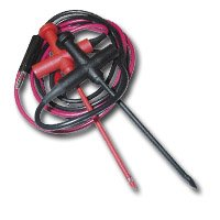 E-Z Hook (EZHBXEL-36RB) 36in. Red / Black Straight Banana Plug Insulated Piercing Probe Set