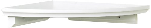 InPlace Shelving 0199020 Corner Shelf Kit, 10-Inch by 10-Inch, White
