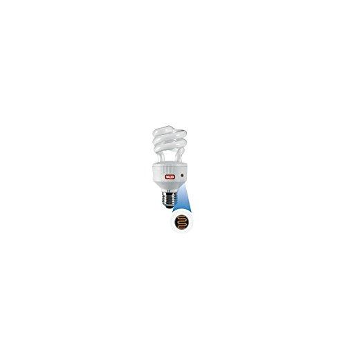 Lampadina basso consumo luce fredda a 3 tubi con sensore - Portalampada con sensore crepuscolare ...