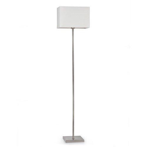 FARO 68531 - THANA lampada da terra in metallo e cappello in tessuto bianco
