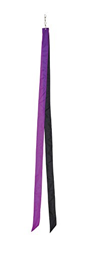 In the Breeze Colorblock Kite Tails, Purple/Black, 60-Inch - 1