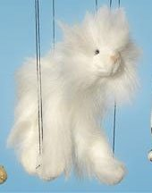 "16"" White Cat Marionette (Small)"