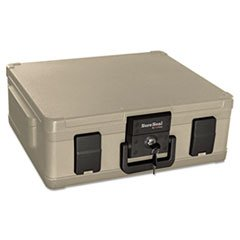 * Fire and Waterproof Chest, 19-9/10w x 17d x 7-3/10h, Taupe