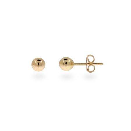 Mens 4mm 14K Gold Filled Bead Earrings