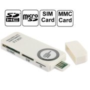 USB Universal Card Reader, Support SD / MMC /SIM / TF Card (Write)