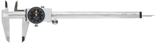 Brown & Sharpe 599-579-8-5-1 Dial Caliper, Stainless Steel, Black Face, 0-8 Range, +/-0.001 Accuracy, 0.001 Resolution, Meets DIN 862 Specifications by Brown & Sharpe (Brown And Sharpe 6 Dial Caliper compare prices)