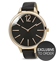 M&S Collection Round Face Analogue Strap Watch