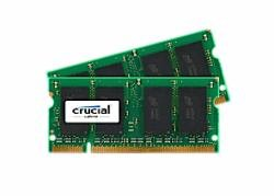 CT2KIT25664AC667 - CRUCIAL 4GB KIT (2GBX2) DDR2 CRUCIAL 667MHZ (PC2-5300) CL5 SODIMM 200PIN