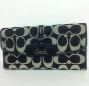 Coach ashley signature sateen checkbook Wallet F48117