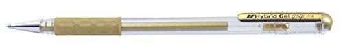 Pentel 0.8mm Sugerencia Hybrid Gel Metálico cómodo Grip dedo pluma de tinta - oro
