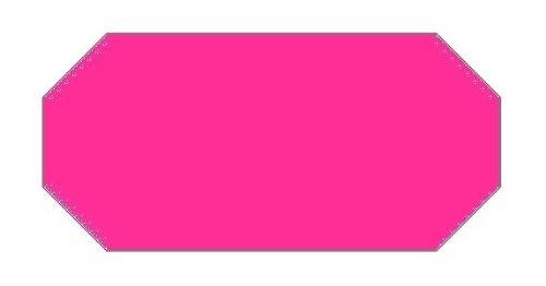 Haftetiketten handauszeichner pour 26 x 12 mm (54.000.. fluor rose.