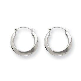 Genuine IceCarats Designer Jewelry Gift 14K White Gold Hoop Earrings
