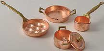 Dollhouse Miniature 5-Pc. Copper Pot Set front-251695