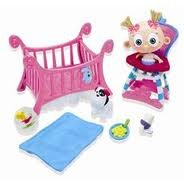 Ding-e Ding-e Mini Crazy Cute Crib & Accessories - Patootie & Puppy Crib