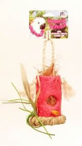 Prevue Pet Products Tropical Teasers Shredable Shack Bird Toy