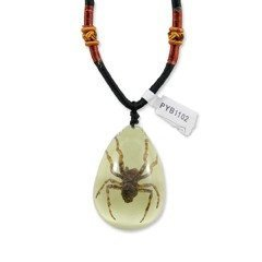 REALBUG Spider Necklace, Glow in the Dark, Large - 1