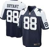 Dallas Cowboys Dez Bryant Thanksgiving Throwback On-field Jersey Size (Medium) 40