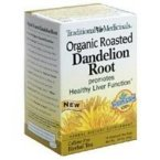 Organic Roasted Dandelion Root Tea Traditional Medicinals 16 Bag