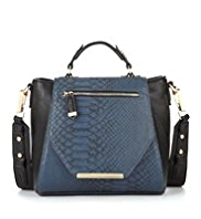 Limited Edition Faux Snakeskin Design Mini Handbag