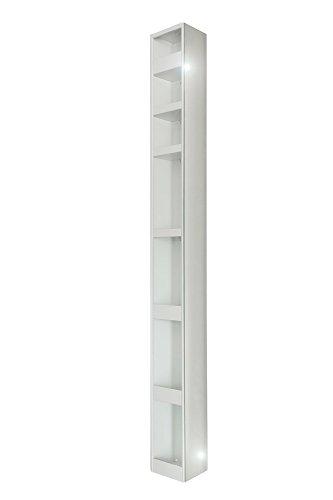 4001070101877 Badspiegel-Drehschrank, 15 x 20 x 160 cm, metall, weiß
