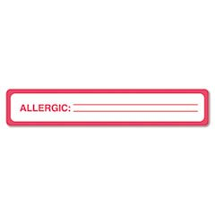 Medical Labels For Allergy Warnings, 1 X 5-1/2, White, 175/roll By: Tabbies