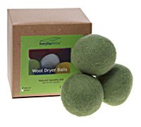 Willow Store Natural Laundry Care Wool Dryer Balls Assorted Colors -- 3 Balls