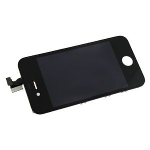 21BmxJqmzaL Apple Iphone 4 4g (AT&T) Black Screen Glass Replacement Digitizer with Frame + LCD Assembly + 6 Piece Tool Kit