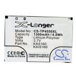 Black Extended Replacement Battery for HTC P4550 Kaiser, HTC Tytn II, T-Mobile MDA Vario III 1600mAh