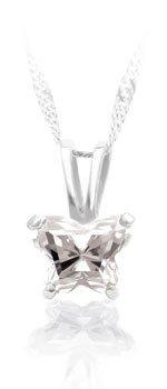 Butterfly Gem Pendant Necklace & Earring SET ~ APRIL / DIAMOND B-Fly