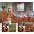 Cheap Standard City Park Kids Wood General's Bed 7 Piece Bedroom Set in Cherry (4850-GB-PKG2)