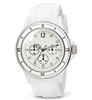 M&S Collection Round Face Diamanté Analogue Sports Watch
