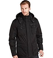 Autograph Padded Waterproof Coat with Detachable Hood