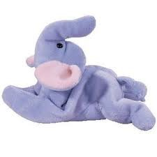 Ty Teenie Beanie - Peanut the Light Blue Elephant - 1