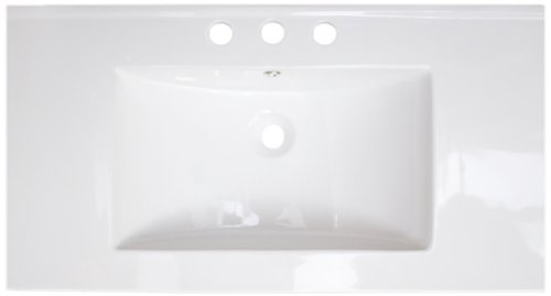 American Imaginations 386 32-Inch by 18-Inch White Ceramic Top with 8-Inch Centers