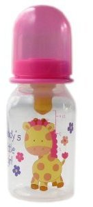 4-oz. BPA Free Baby Bottle (latex nipple), Pink